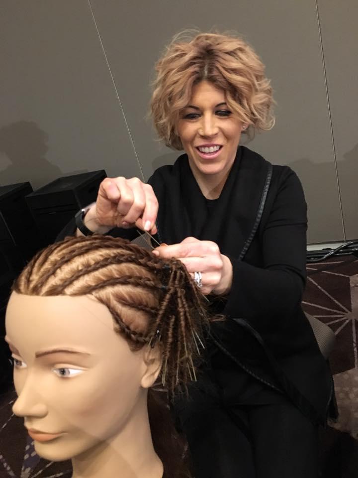 Lindsey braiding on mannequin