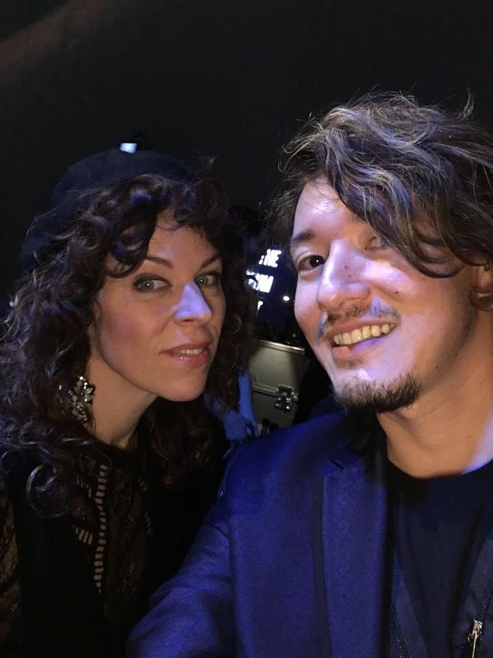 backstage with Adina