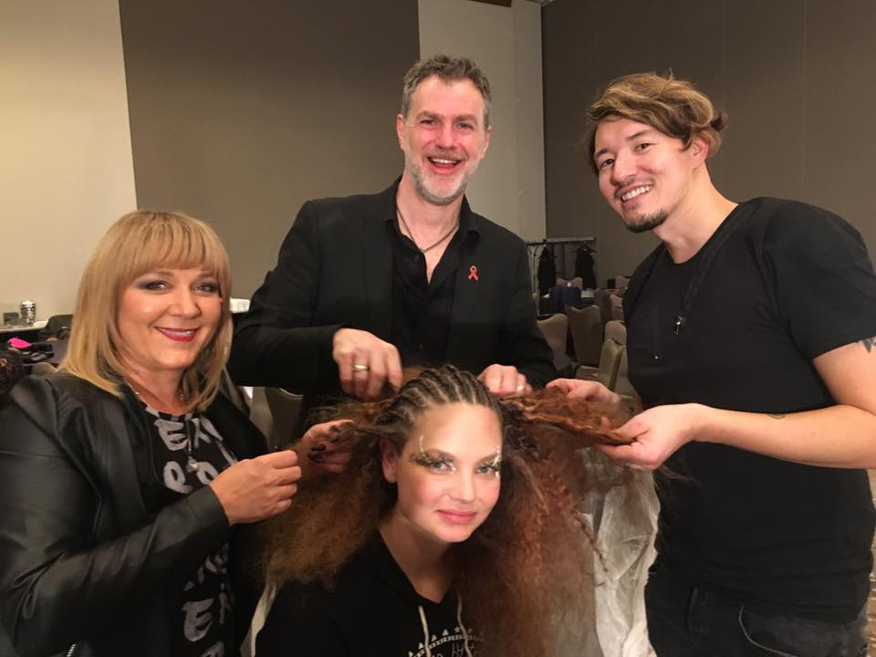 it takes a village. Model Alayna hair taken down by Parnelli, Chris and I
