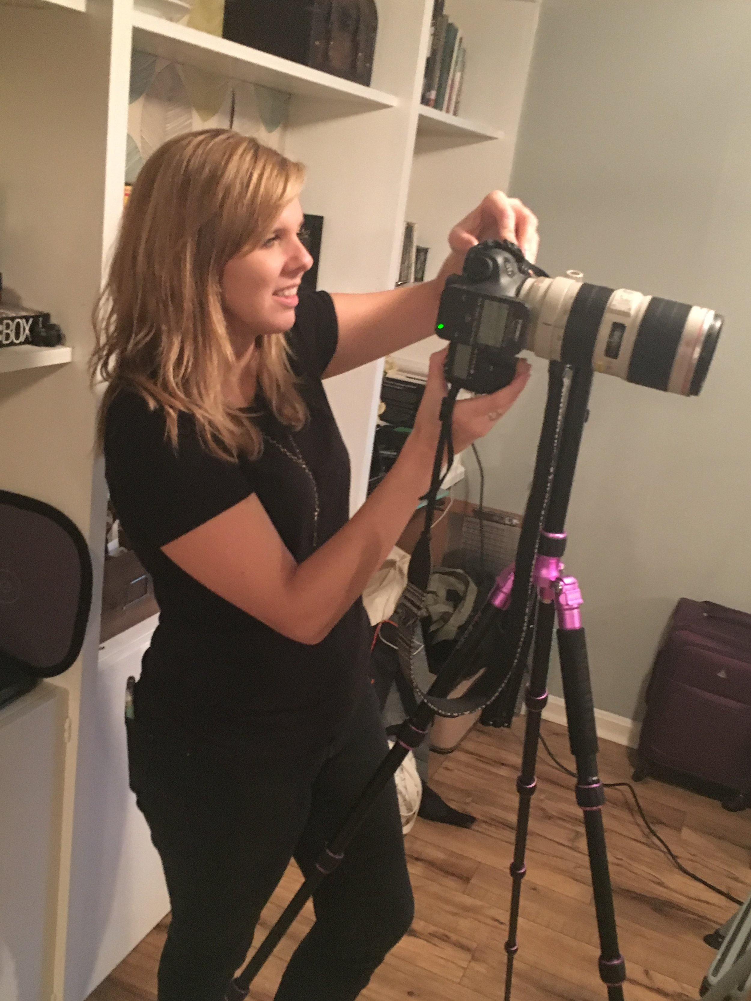in focus: jenni on camera