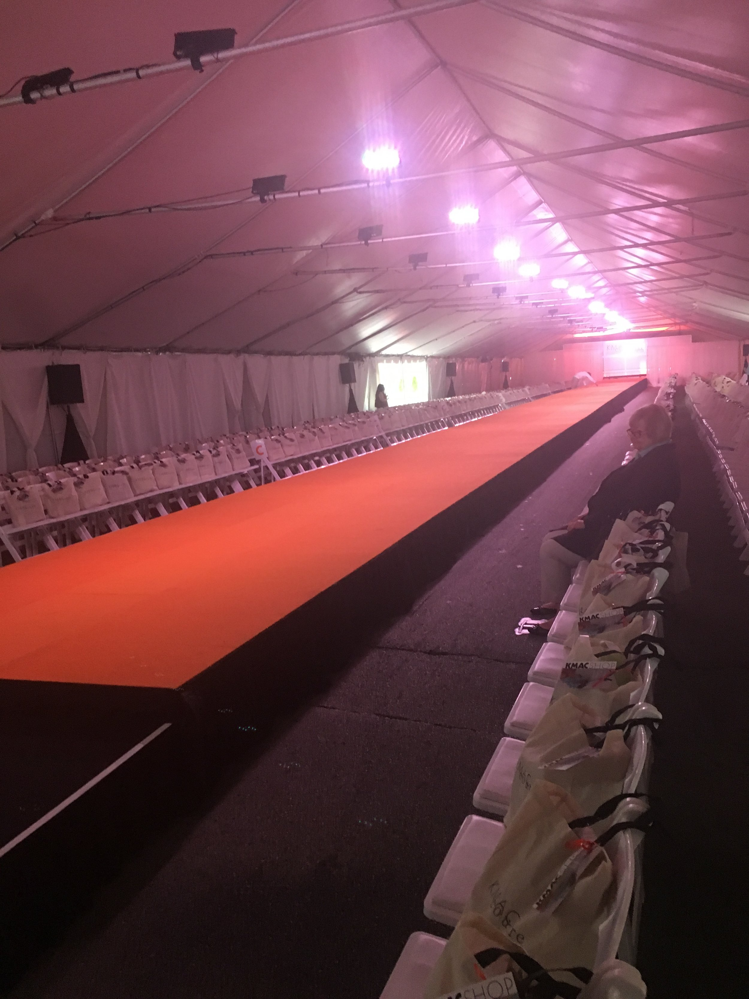 the runway before the public arrival