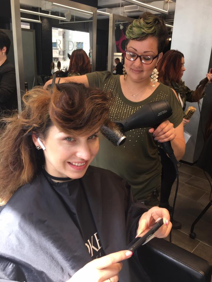Juli creating volume on model, Evrora