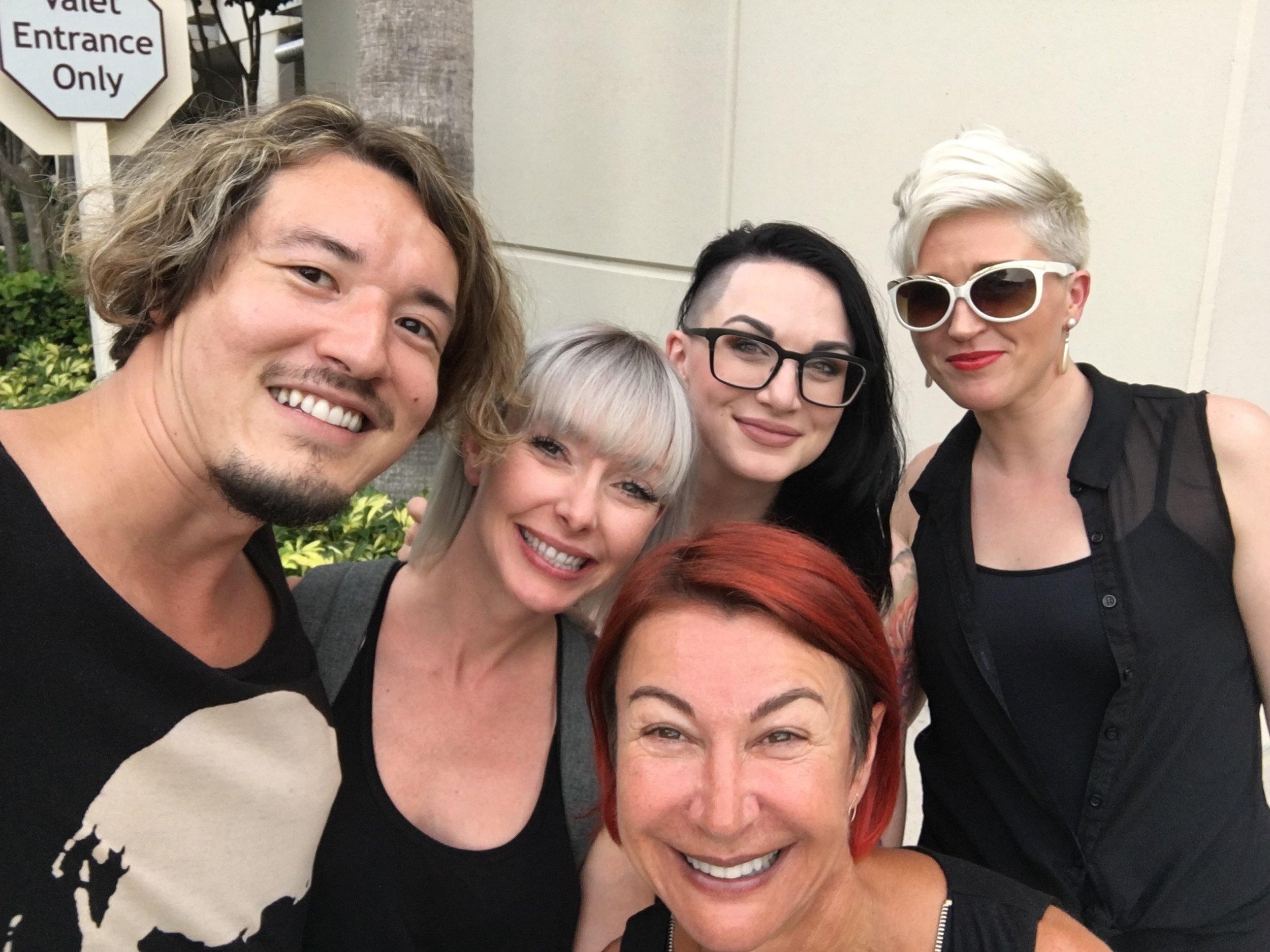 Redken artists with legendary, Sonya Dove
