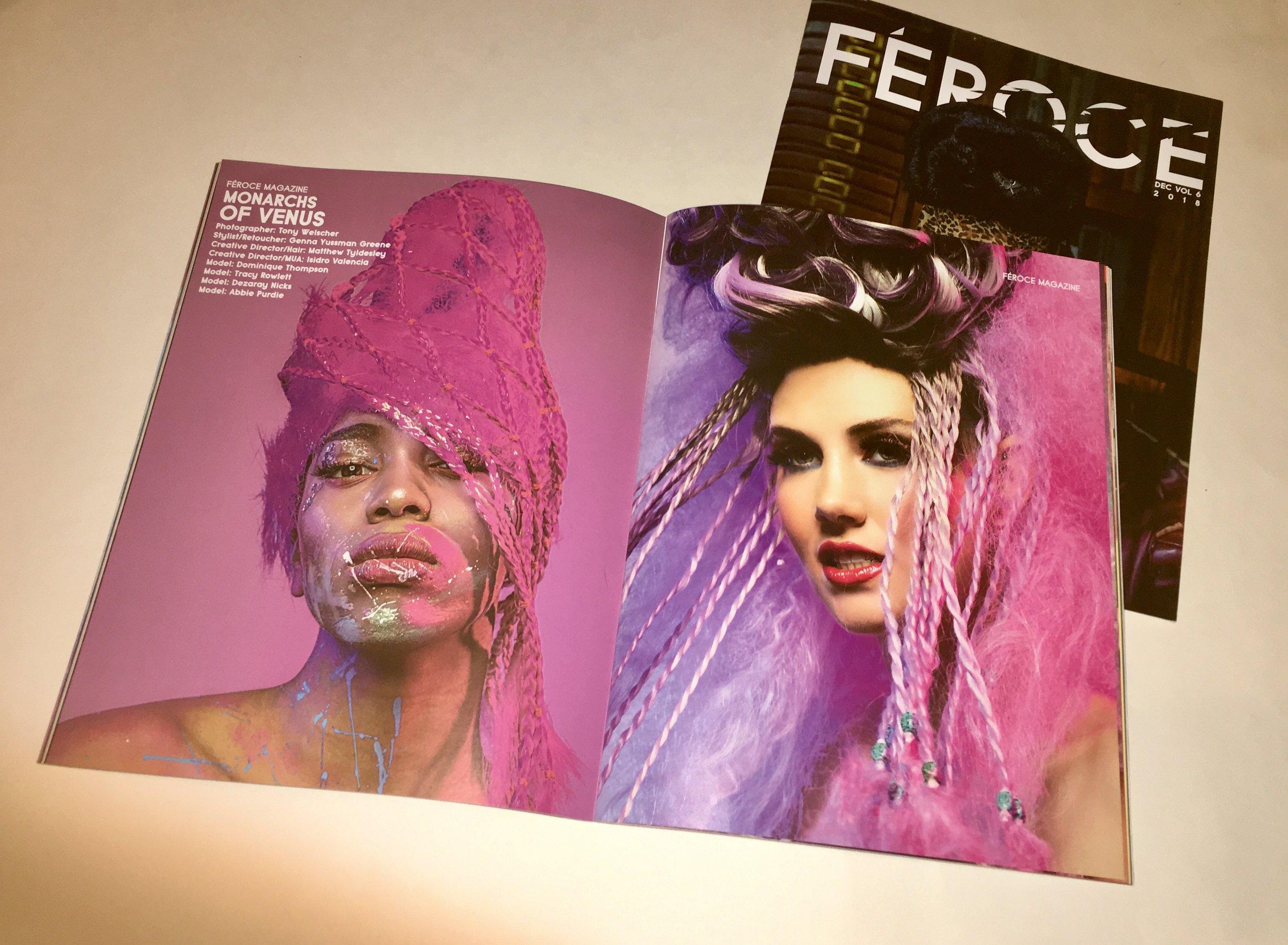 - Feroce Magazine spread