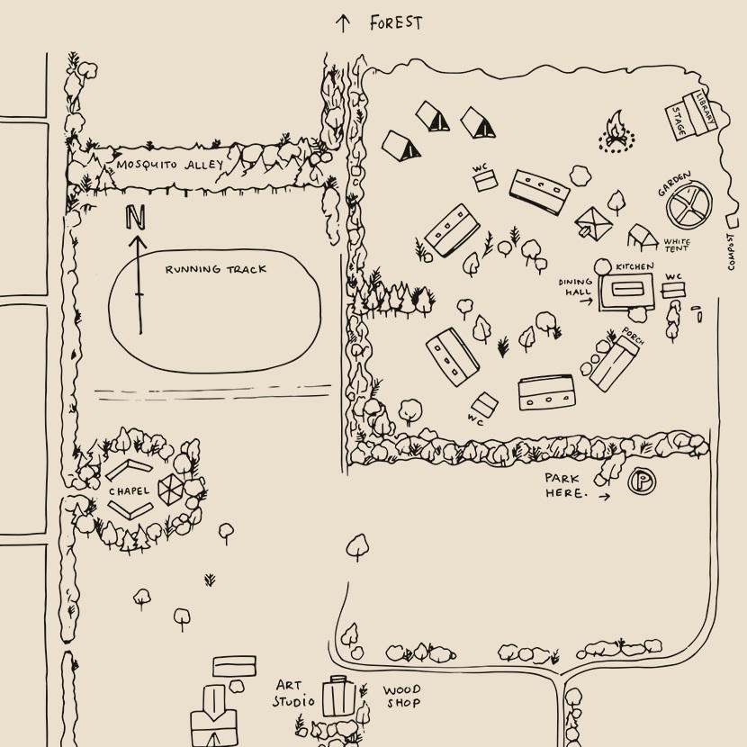 FOLK CAMP-GROUND MAP -
