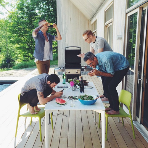 The shoot for our Kickstarter video and apron feature for Issue 1 was a weekend of fun with a bunch of handsome foodies.