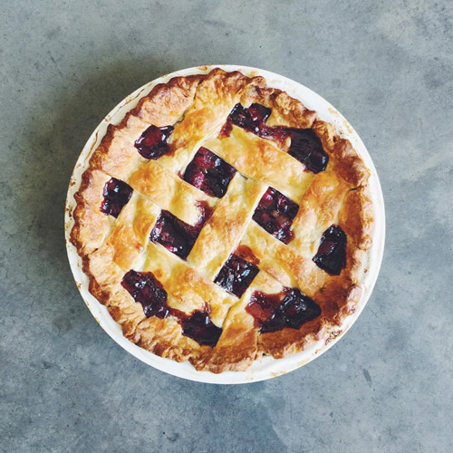 Saveur   Food Editor Ben Mims made us his Triple Cherry Pie, from his book   Sweet & Southern    . For some serious pie porn, watch Ben make this pie in our   Kickstarter video  .