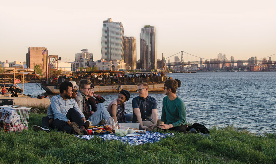The expanded Jarry team, picnicking this summer in Transmitter Park near our offices in Greenpoint, Brooklyn.
