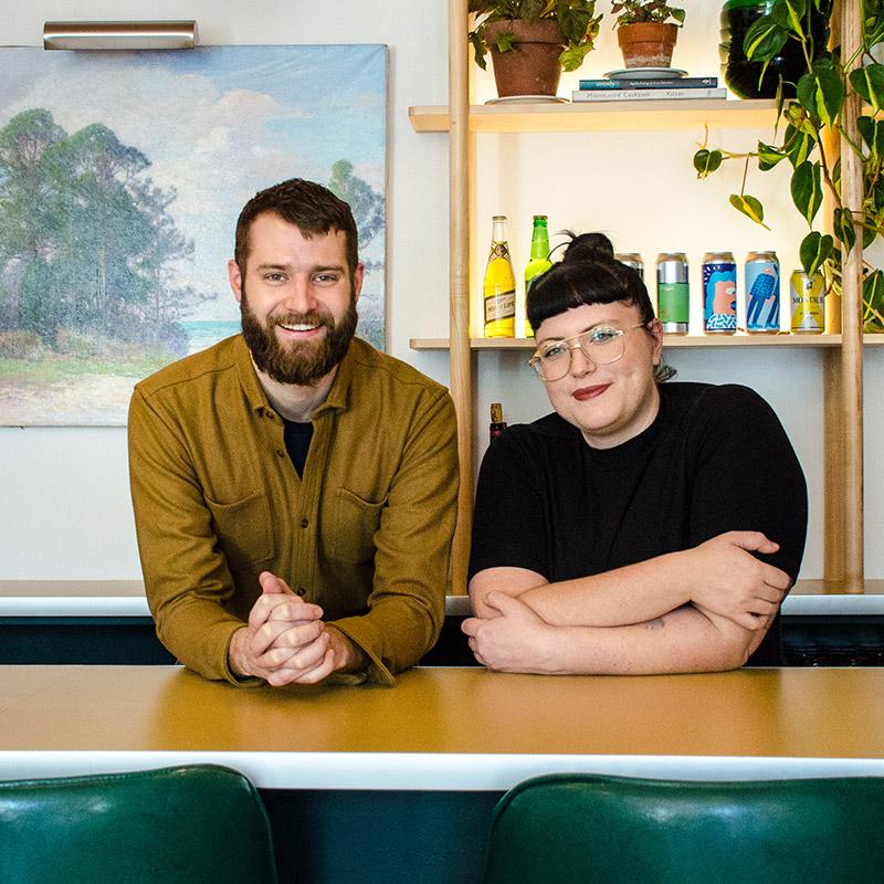 Bill Clark (left) with Meme's co-owner Libby Willis