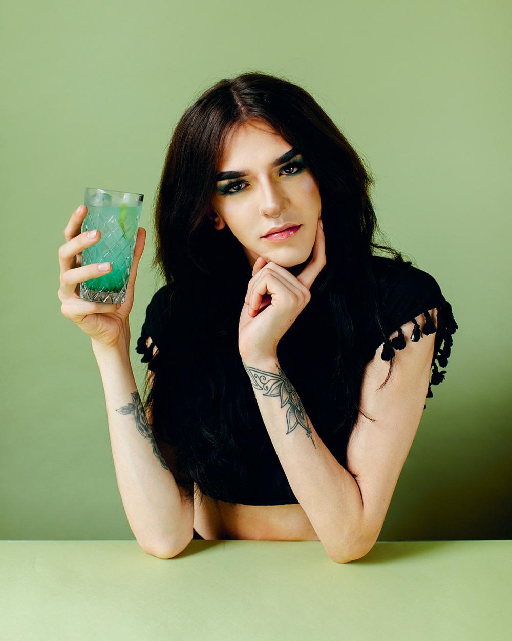 Jade Jones,    @jadeyaofficial     Occupation:  Hospitality, Makeup   Go-to cocktail:  Raspberry Absolut, Cola, & Lime