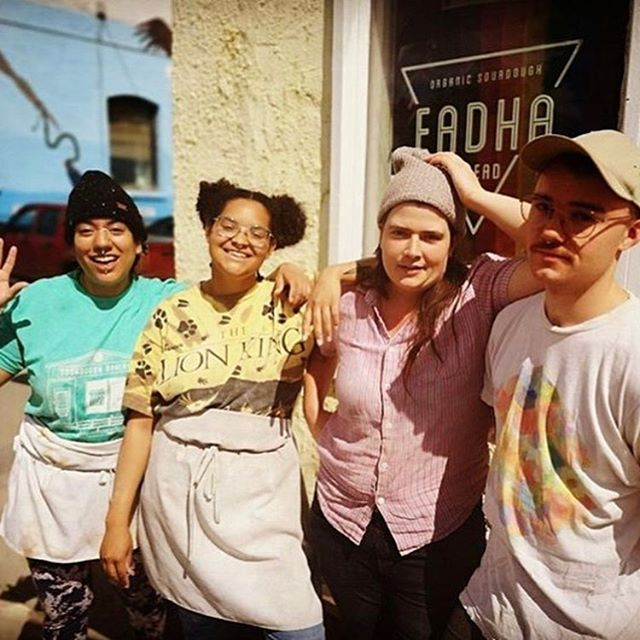 """@eadhabread [in Winnipeg] is an openly and boldly queer establishment! They make amazing bread but more than that they support the community through frequent fundraisers and workshops."" Thank you, Jenny Henkleman, for sending in this entry to the EAT QUEER directory! It's growing every day with submissions like this, which get us excited to travel but also make us proud to be part of such vast and ever inspiring queer food community. Head to www.eatqueer.com to submit your favorite queer food & drink establishment, or to scroll the 100+ offerings that have already been shared. /// #jarrytype #eatqueer"