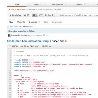 OS X user admin tools on Github