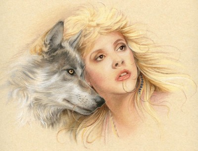 Stevie and the wolf
