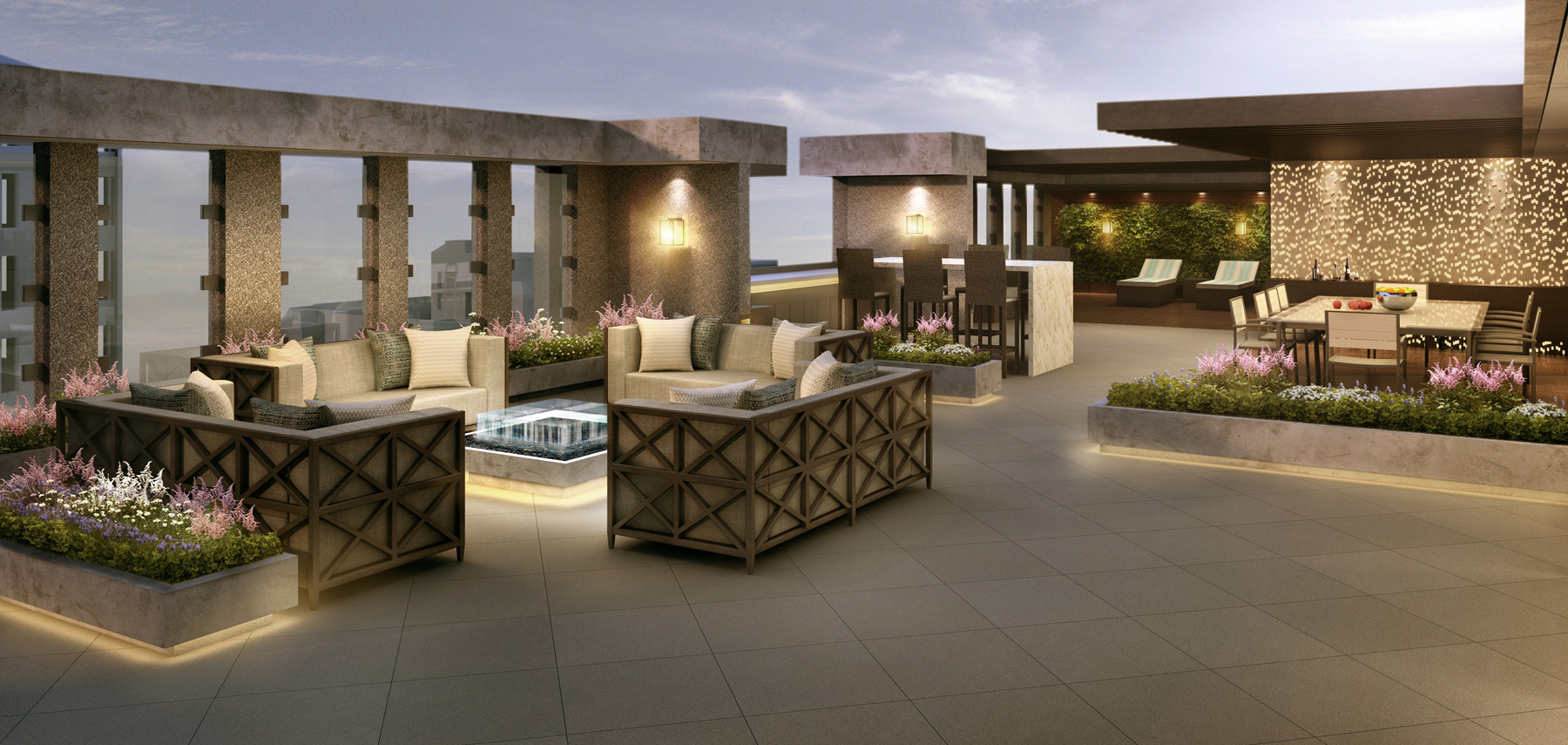 The Lauren Residences Rooftop Terrace
