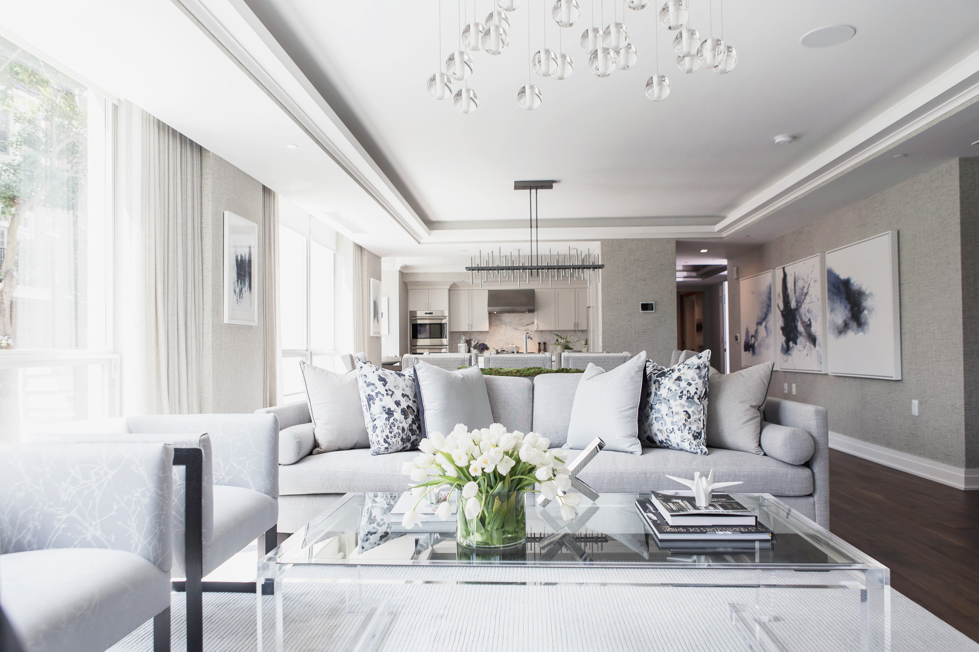 The Lauren Residences Living Room • Image Provided by The Lauren Residences / ADG