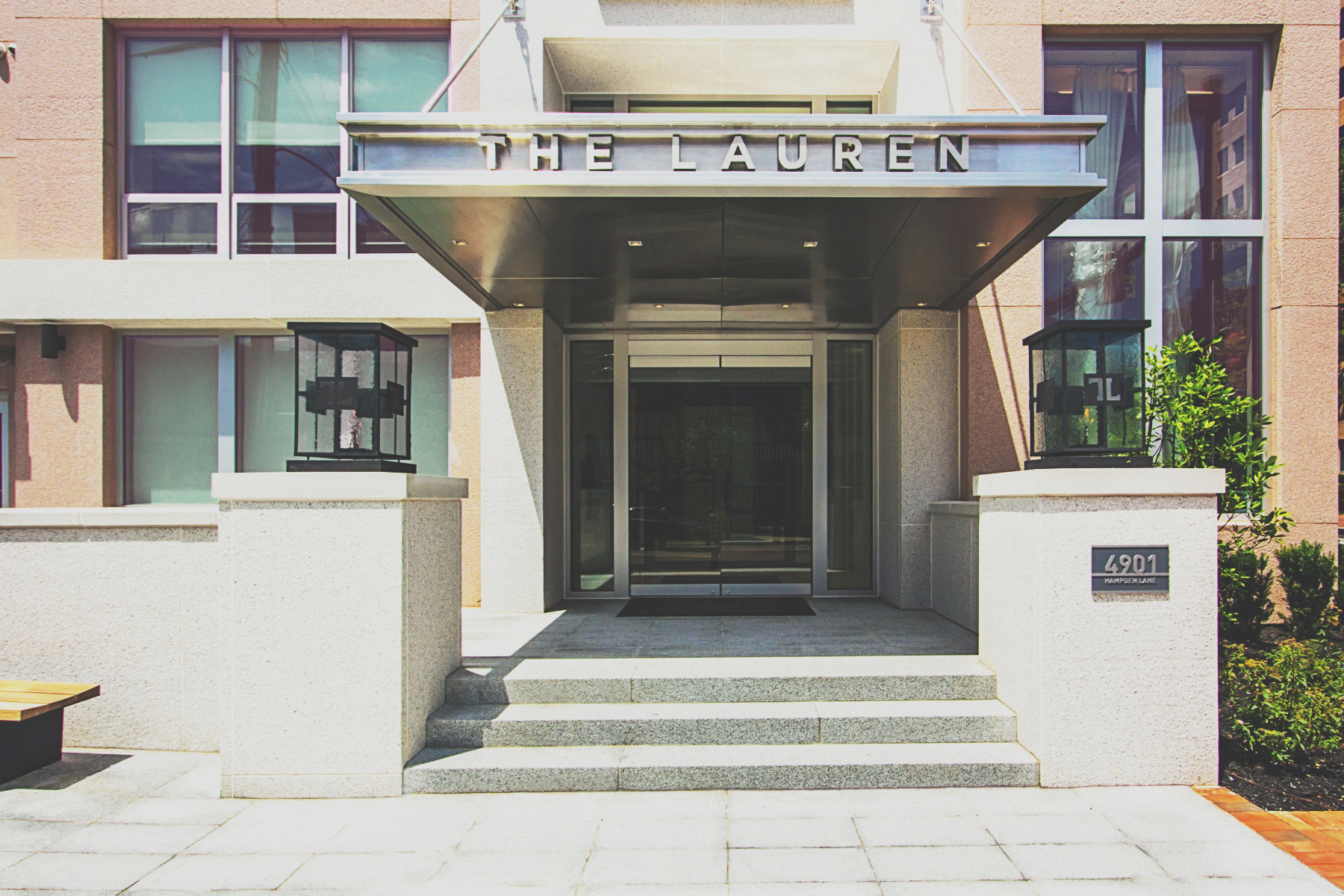 The Lauren Residence Entrance • Image Provided by The Lauren Residences