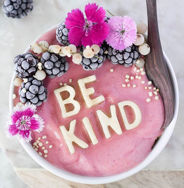 Be kind, if you want to be treated with respect and kindness you must give respect and kindness. The universe gives you what you put out in the world, if you want to be successful you must think, act, and eventually you will be. Photo via @ehvegan
