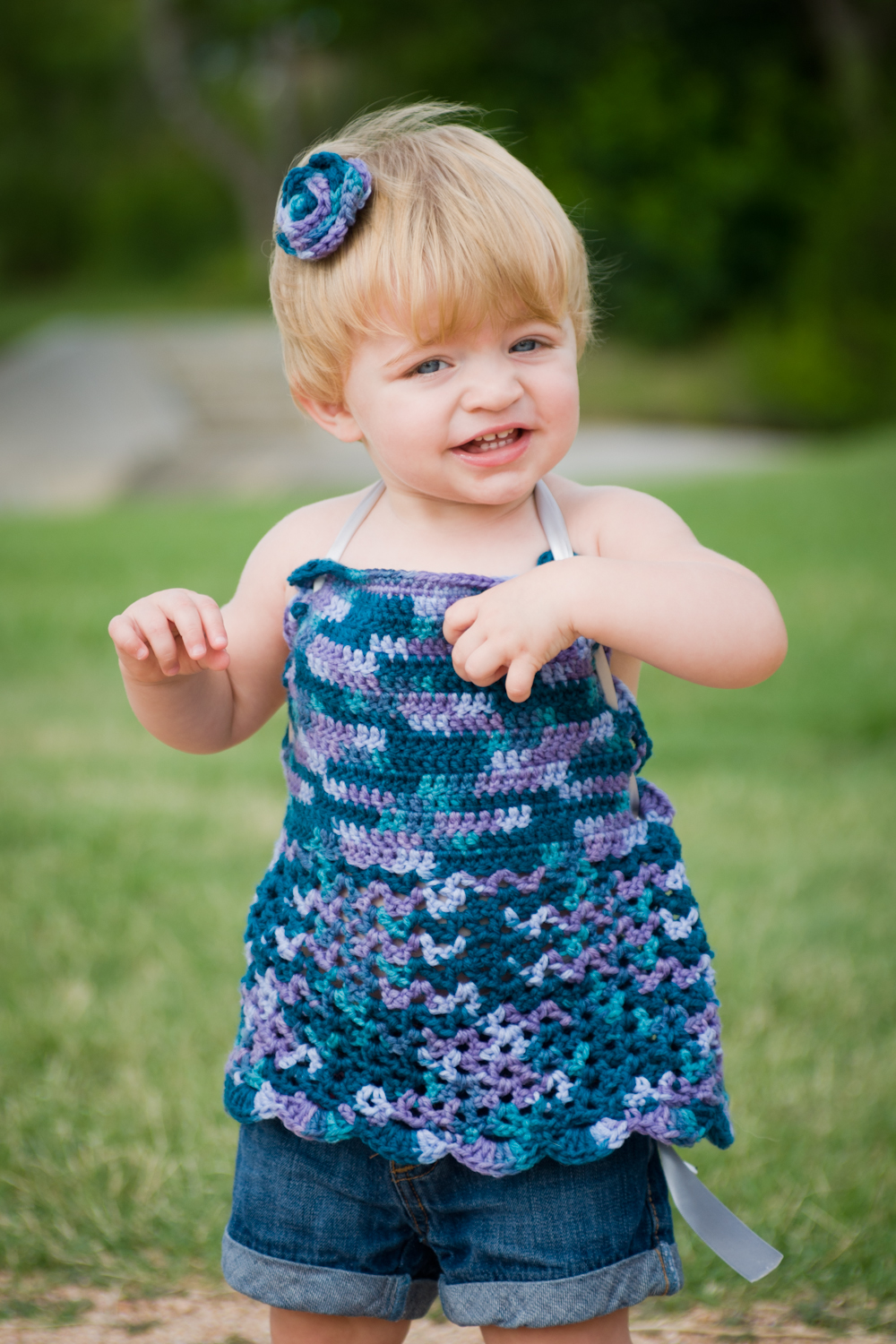 June - Look. At. This. Cutie. This is Bailey, her mom makes the cutest things for her to wear! Check out Bailey J's Boutique on Facebook!