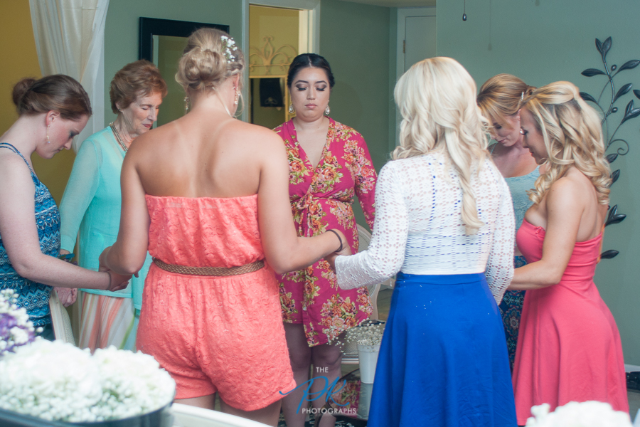 Pre-Wedding Prayer - San Antonio Wedding Photographer