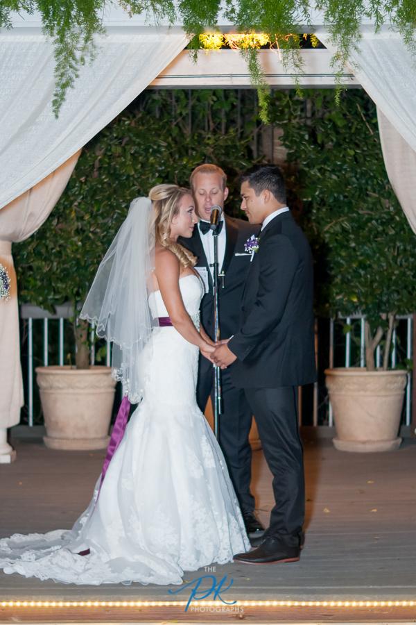 Bride and Groom Saying Vows -San Antonio Wedding Photographer
