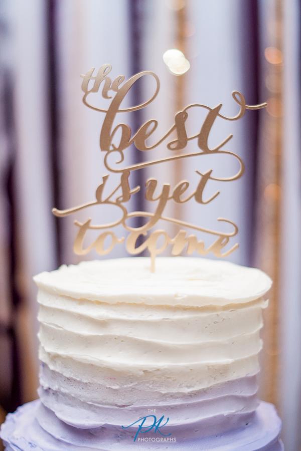 Purple and Gold Wedding Cake Topper -San Antonio Wedding Photographer