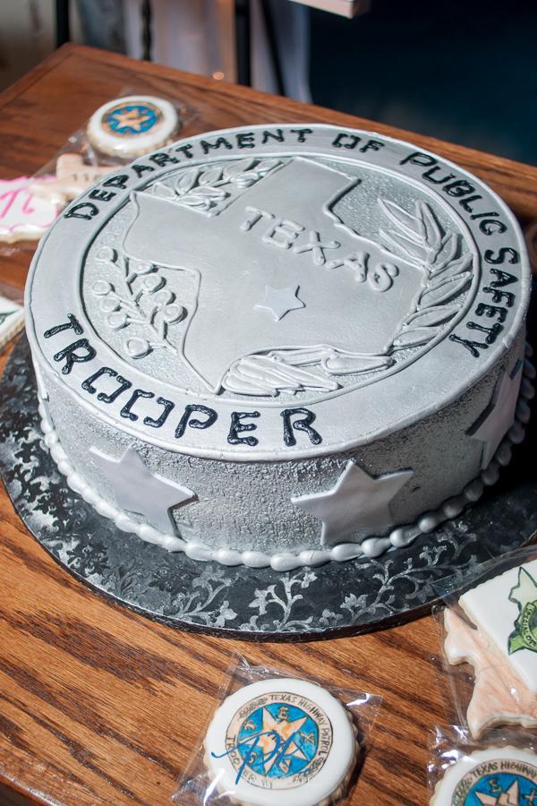 Texas State Trooper Groom's Cake - San Antonio Wedding Photographer
