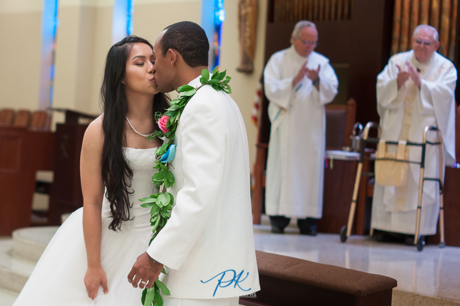 Bride and Groom Kissing - San Antonio Wedding Photography