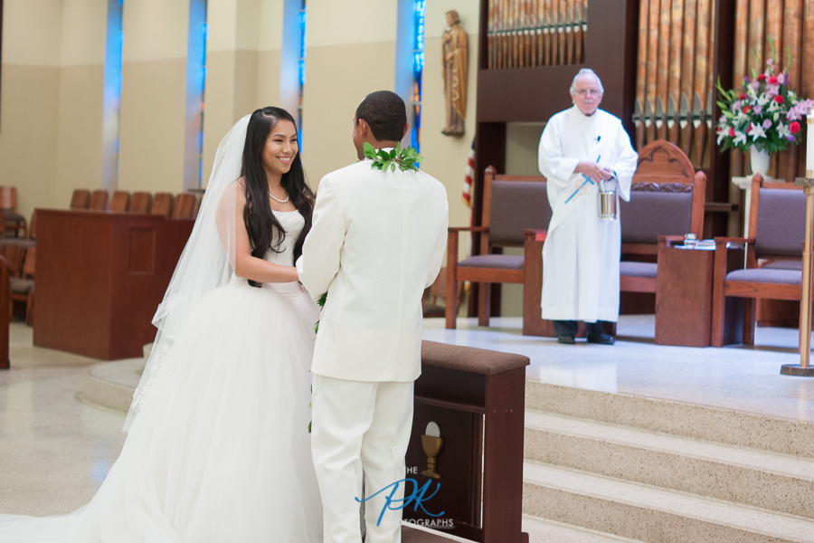 Bride and Groom During their Ceremony - San Antonio Wedding Photographer