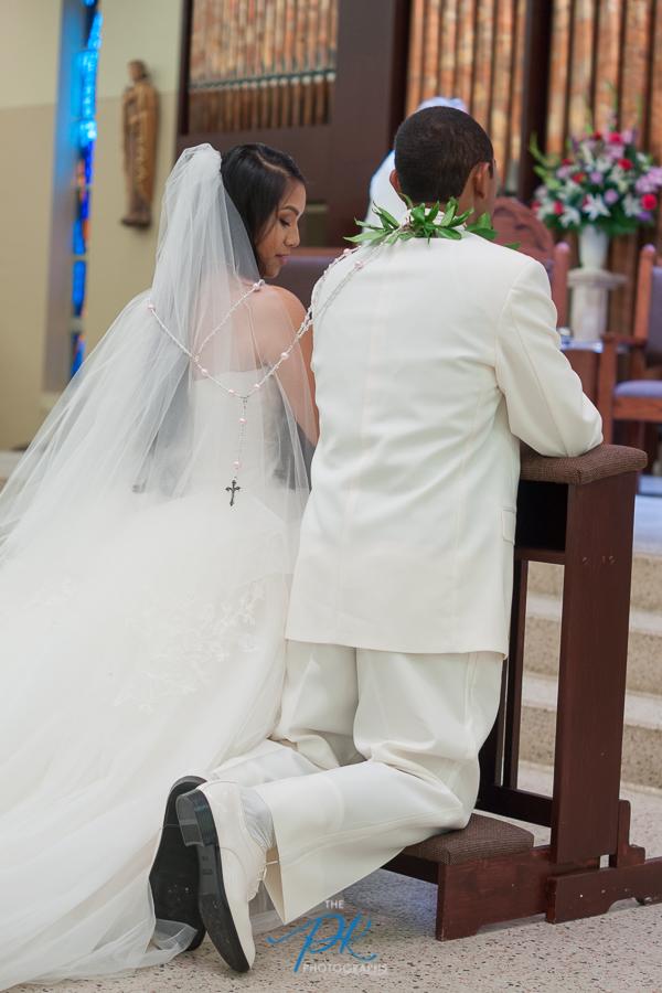 Bride and Groom During Wedding Ceremony - San Antonio Wedding Photographer