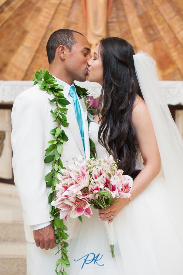 Bride and Groom Kissing - San Antonio Wedding Photographer