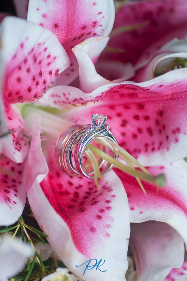 Wedding Rings on Flower - San Antonio Wedding Photographer