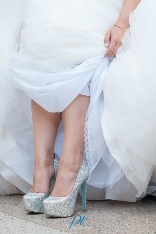 Bride's Something Blue Shoes - San Antonio Wedding Photographer