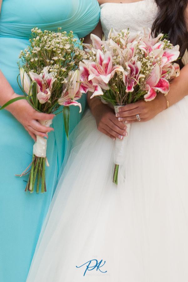 Bridesmaid and Bride Bouquets - San Antonio Wedding Photographer