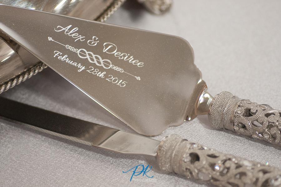 Engraved Cake Knife and Server Set - San Antonio Wedding Photographer