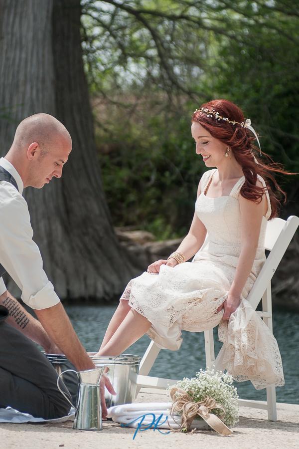 Feet Washing Ceremony - San Antonio Wedding Photographer