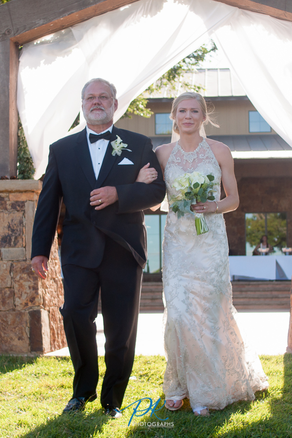 Rachel fought back the tears as she walked up the wedding aisle on her father's arm.