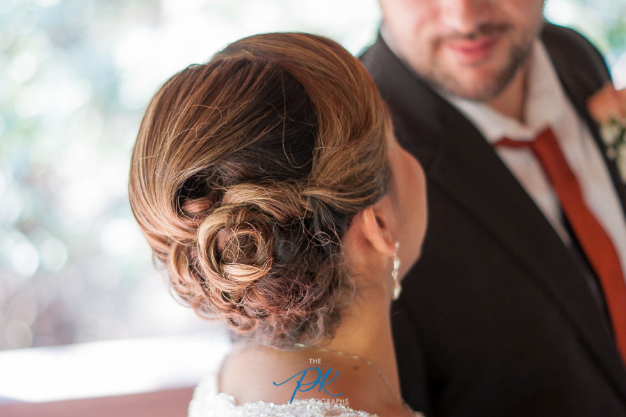 Monica's hair was stunning, and a perfect choice for a summer wedding in Texas.