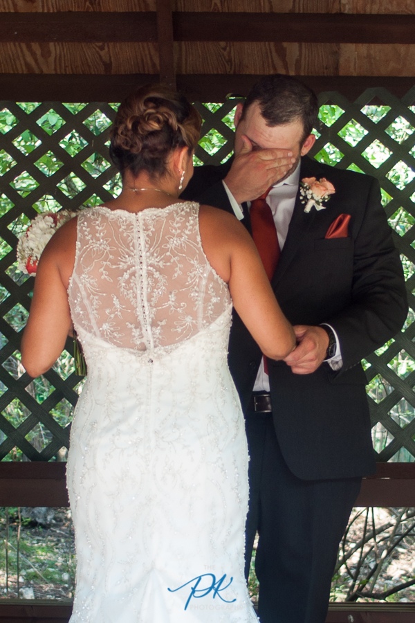 Jimmy couldn't hold back his tears, seeing his bride for the first time.