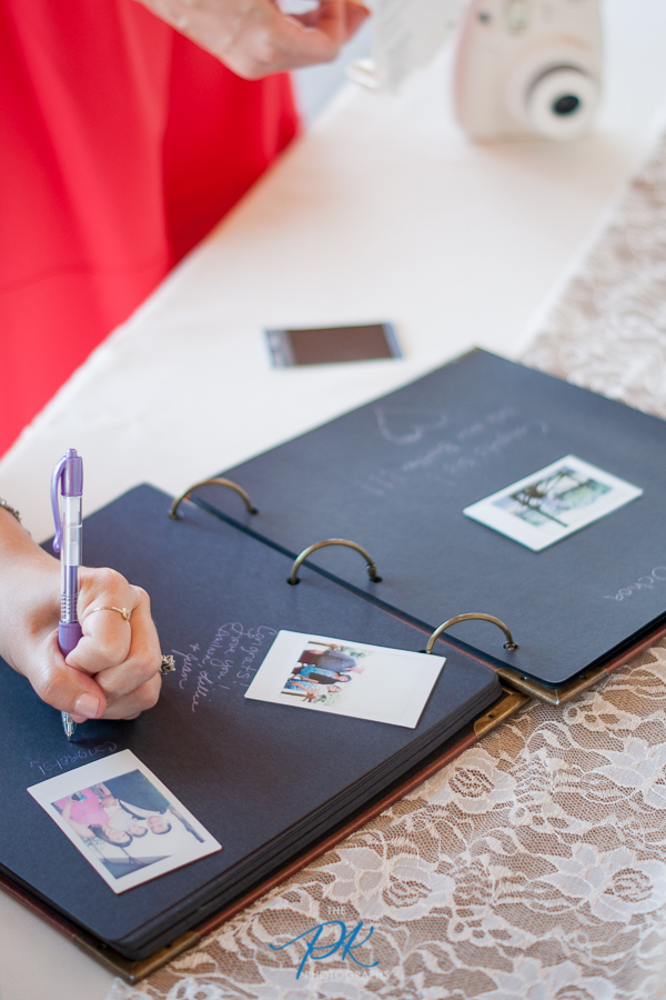 Their guests loved this unique guestbook!