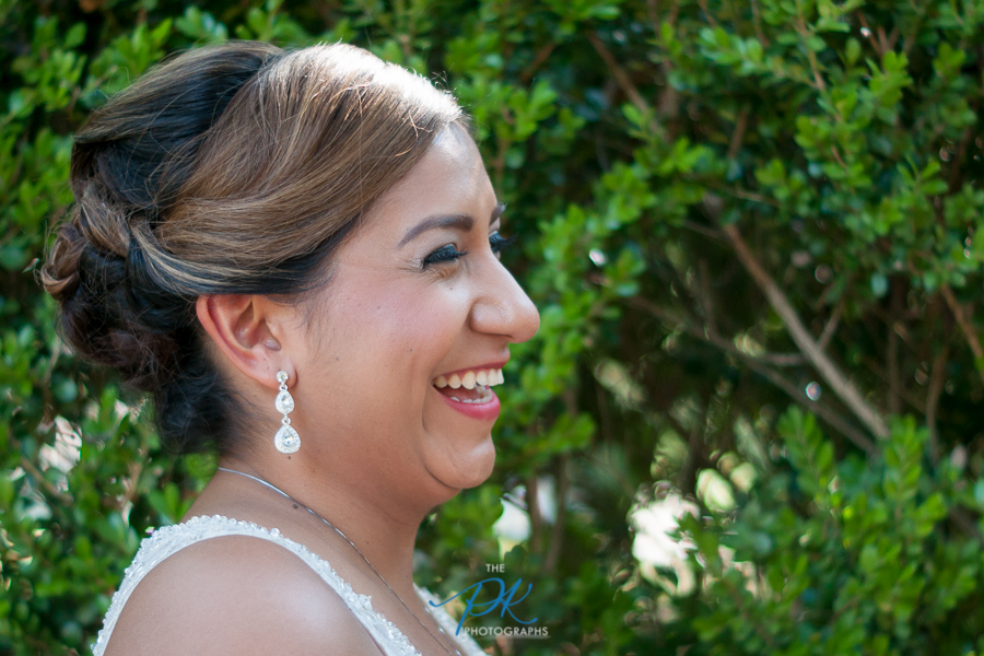 To say Monica was happy on her wedding day be an understatement.