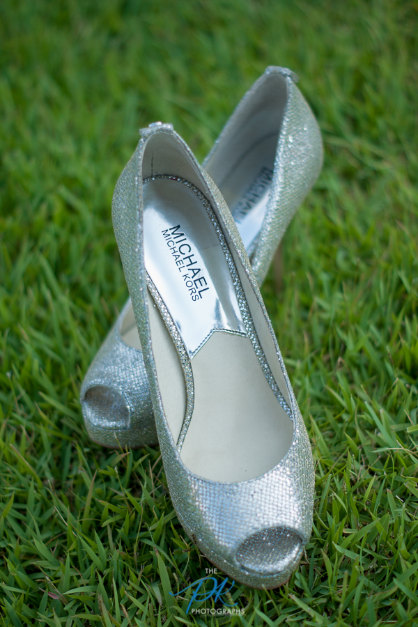 These Michael Kors heels completed Monica's bridal look.
