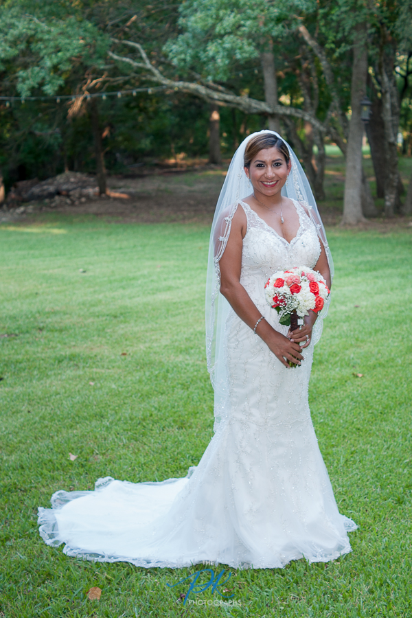Monica's mother requested a classic bridal portrait of her, and I'm so glad we were able to showcase Monica's timeless wedding look.