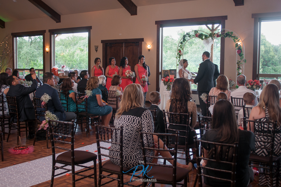 The love and support for Monica and Jimmy filled the room during their wedding ceremony.