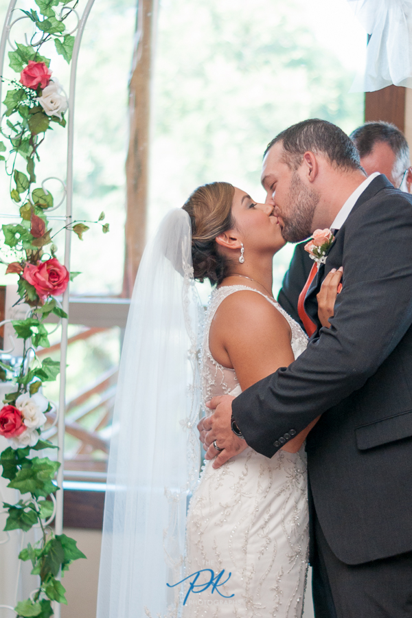 """There was no hesitation when the long awaited phrase rang out,""""You may now kiss your bride""""."""