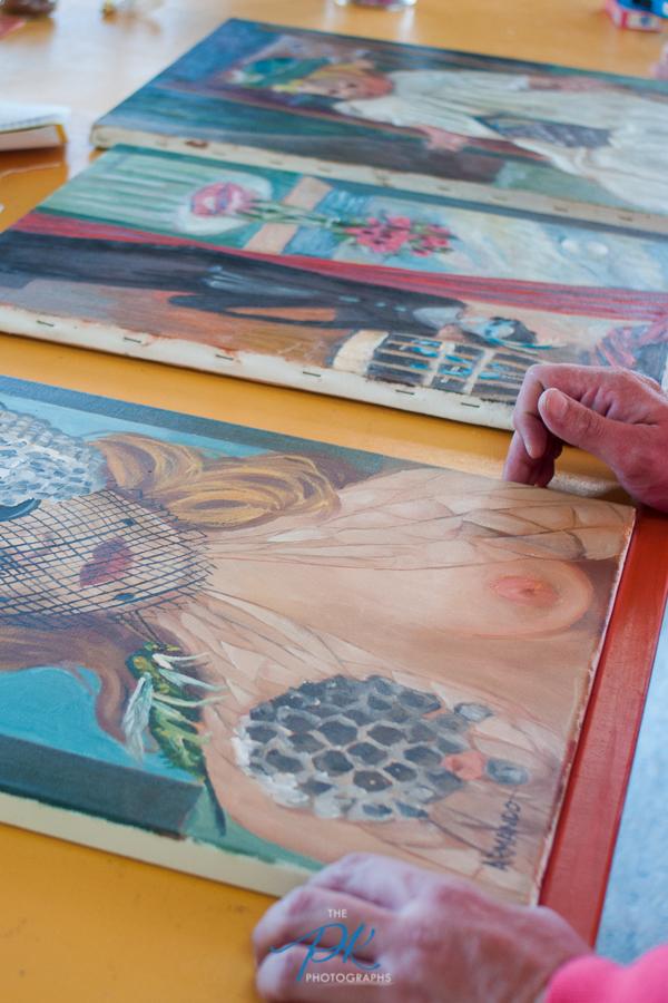 Paintings by local San Antonio Artist, Armando.