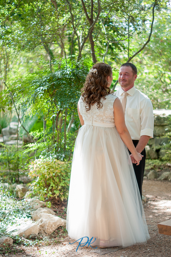 Brian was so nervous waiting to see his bride during their first look.