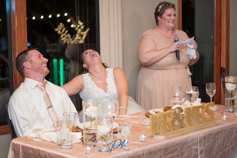 The maid of honor's toast had everyone cracking up!