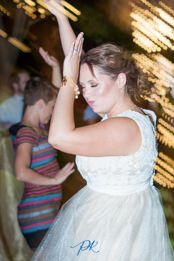 Denise danced the night away under the night sky.
