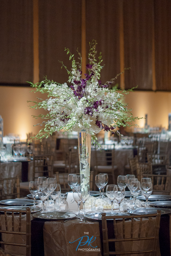 Table Centerpieces at Wedding Reception at the McNay Art Museum - San Antonio Wedding Photographer
