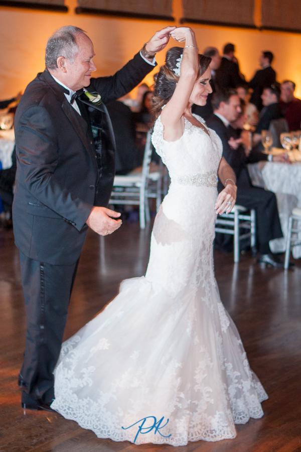 Father and Bride Dancing at Wedding Reception at the McNay Art Museum - San Antonio Wedding Photographe